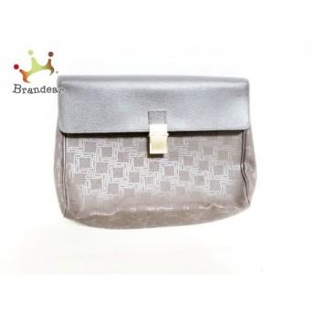 ダンヒル セカンドバッグ ダークブラウン×ブラウン 型押し加工 PVC(塩化ビニール)×レザー スペシャル特価 20190718