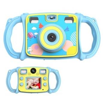 HY-00269キッズカメラ 1080P HD 子供用 カメラ 2.0インチ 4倍ズーム 自撮り可 デュアルレンズ 可愛い 誕生日 子供の日 プレゼント 男女兼
