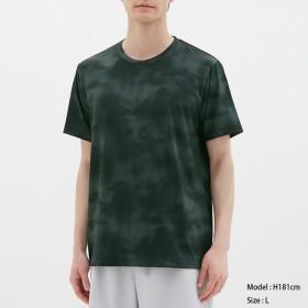 (GU)クルーネックT(半袖)(タイダイ)GS BLACK L