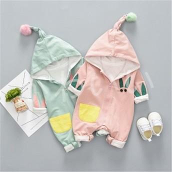 ベビー服 赤ちゃん ロンパース 母の日 帽子付きカバーオール 新生児 お出かけ