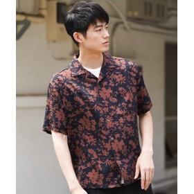 【50%OFF】 アー・ヴェ・ヴェ アロハガラオープンカラーシャツ[WEB限定サイズ] メンズ ブラック M 【a.v.v】 【セール開催中】