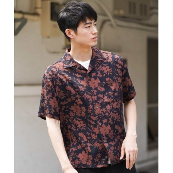【60%OFF】 アー・ヴェ・ヴェ アロハガラオープンカラーシャツ[WEB限定サイズ] メンズ ブラック M 【a.v.v】 【セール開催中】