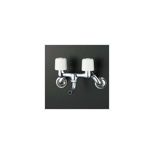 [KM8GZ-R24] [寒冷地仕様] [240mmパイプ付] 【送料無料】 KVK流し台用2ハンドル混合水栓