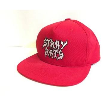 二子玉) ストレイラッツ STRAY RATS ロゴキャップ レッド メンズ 帽子 ストリート スケート