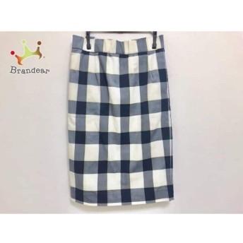 ミラオーウェン スカート サイズ0 XS レディース 美品 アイボリー×ネイビー×イエロー スペシャル特価 20190812