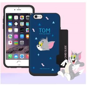 Tom and Jerry トムとジェリー カード ケース ♪ iPhone7/8 人気 可愛い ハード 強い ダブル カード 収納 カバー