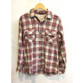 二子玉) ブレント BRENT ヴィンテージウールチェックシャツ メンズ レッド グレー トップス ウール 長袖 シャツ