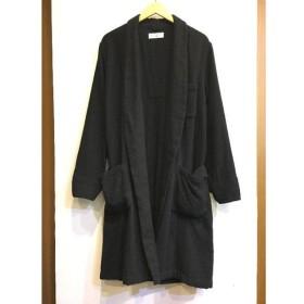 二子玉) アンユーズド UNUSED ローブコート カーディガン ブラック 黒 ウール メンズ レディース 2