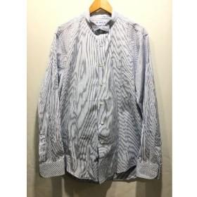 経堂) ポーター クラシック Porter Classic ストライプ シャツ ブルー ホワイト サイズL メンズ コットン