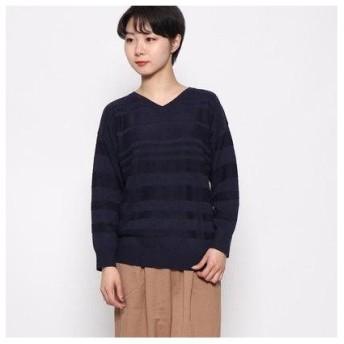 ドレスキップ DRESKIP Vネックセーター (ネイビー)