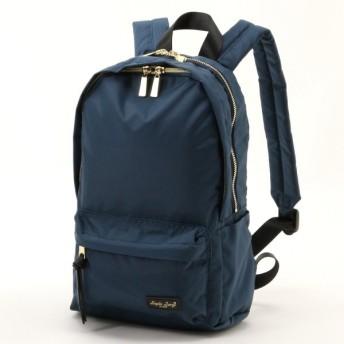バッグ カバン 鞄 レディース リュック 撥水光沢ポリキャン2層構造ミニリュック カラー 「ネイビー」