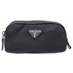 プラダ PRADA ポーチ 新品 ナイロン 化粧ポーチ レディース メンズ 小物入れ かわいい ブランド 1NA175 ナイロン ブラック+シルバー