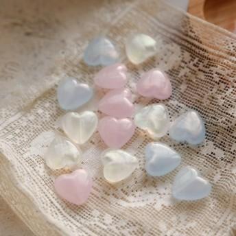 アクリル/樹脂 Japanese Dream Small Loveの光沢のある樹脂ビーズ18mmブルー4インチ