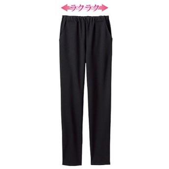 60%OFF【レディース】 日本製 涼感ミセスパンツ(美脚パンツ・選べる2レングス) - セシール ■カラー:ブラック ■サイズ:M(股下58)