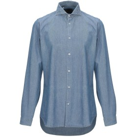 《セール開催中》MANUEL RITZ メンズ デニムシャツ ブルー 41 コットン 100%