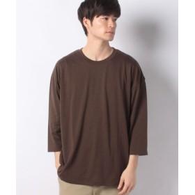 (SPENDY'S Store/スペンディーズストア)ビッグシルエットロング7分袖Tシャツ/メンズ ブラウン