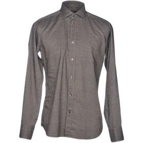 《期間限定セール開催中!》DANDI メンズ シャツ 鉛色 38 コットン 100%