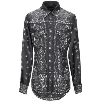 《セール開催中》DSQUARED2 メンズ シャツ ブラック 46 シルク 100%