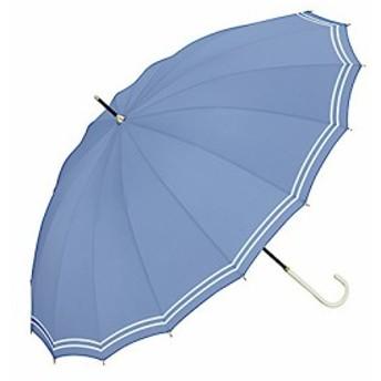 ワールドパーティー(Wpc.) 雨傘 長傘 ブルー 55cm 16本骨 レディース 16本骨マリン 3017-06 BL