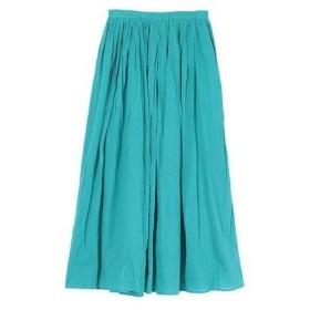 ユアーズ ur's コットンボイルボリュームスカート (ブルー)