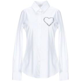 《期間限定セール開催中!》LOVE MOSCHINO レディース シャツ ホワイト 42 コットン 97% / ポリウレタン 3%