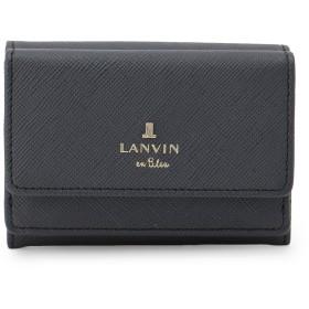 LANVIN en Bleu(BAG) LANVIN en Bleu ランバンオンブルー リュクサンブール 三つ折り財布 財布,ネイビー