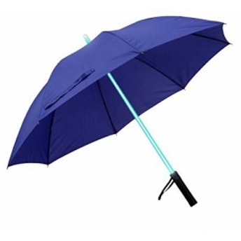 Smiti 光る傘 レインボー LED 光るシャフト 長傘 ブルー