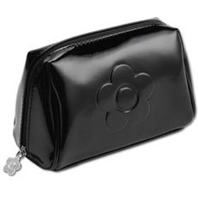 【マリークヮント:財布/小物】エンボスエナメル2 オーバルポーチ