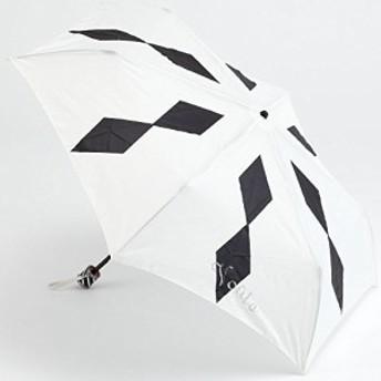 Voute/ヴート cc-009mm (ブラック) 傘収納袋付き ダイヤ柄傘 雨傘 折りたたみ傘 晴雨兼用傘 かわいい傘 UV加工付
