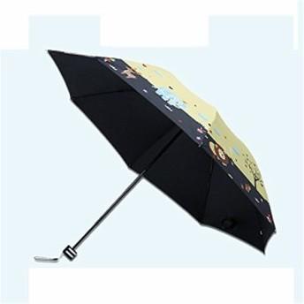 Simple+ 折り畳み傘 ワンタッチ自動開閉 本骨 115cm 耐風撥水 晴雨兼用 軽量楽々 収納ポーチ付き 可愛い 動物