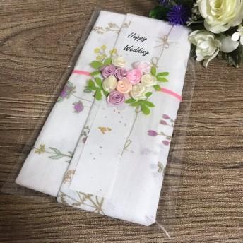 花柄 ドライフラワー 手ぬぐい 祝儀袋 布の祝儀袋 てぬぐい