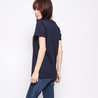 Tシャツ - GUESS【WOMEN】 [GUESS] EMBOSSED HOLOGRAM TRIANGLE LOGO TEE