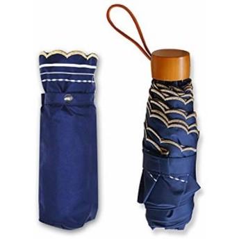 Flinelife 折りたたみ 日傘 軽量 晴雨兼用 uv カット 完全遮光 頑丈 おしゃれ 刺繍 木製 傘 紫外線遮蔽率99% 耐風撥水 折り畳み