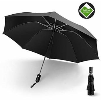 折りたたみ傘 自動開閉 ビジネス傘 大きい 撥水加工 10本骨 高強度 耐風 携帯便利 軽量 晴雨兼用傘 収納ポーチ付き 梅雨対策 豪雨対応 メ