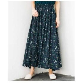 MK MICHEL KLEIN / 【洗濯機で洗える】小花プリントフレアーマキシスカート