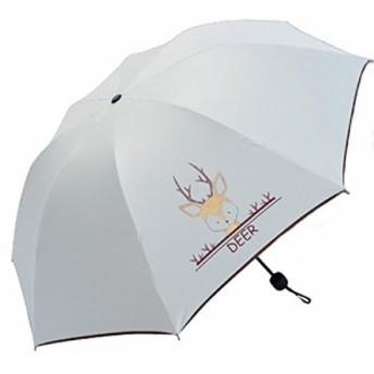 Aukmla 傘 レディース 折りたたみ傘 8本骨 晴雨兼用 軽量 撥水性 日傘 uv カット 可い動物(color2)