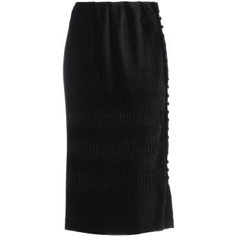 《セール開催中》MARCO DE VINCENZO レディース 7分丈スカート ブラック 42 ポリエステル 100%