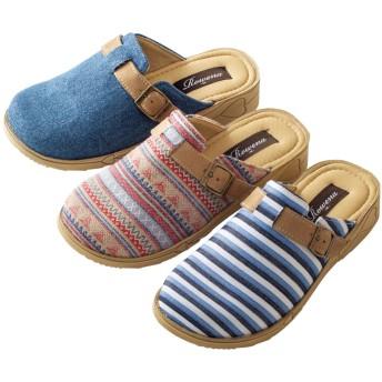 【格安-女性靴】レディース超軽量オブリークトゥサボサンダル