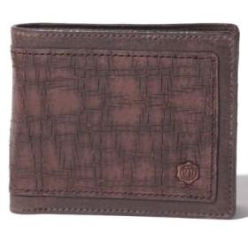 (Brick Shiota ink./ブリックシオタ)Shion シオン クラッキングレザーウォレット二つ折り財布/レディース ダークブラウンスムース
