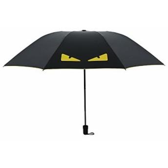 Simple+ 折り畳み傘 ワンタッチ自動開閉 本骨 110cm 耐風撥水 晴雨兼用 軽量楽々 収納ポーチ付き 可愛い 悪魔