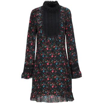 《セール開催中》ANNA SUI レディース ミニワンピース&ドレス ブラック XS シルク 65% / ナイロン 35% / ナイロン / レーヨン