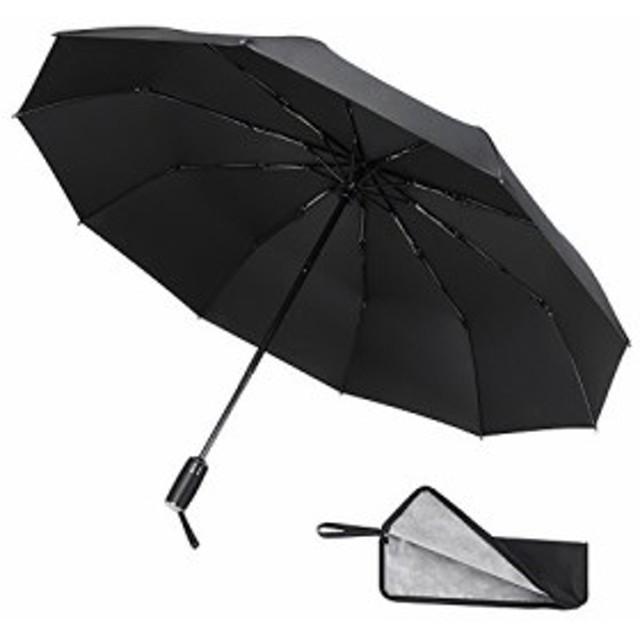 COOFINE 折りたたみ傘 自動開閉傘 防水収納ケース付き 10本骨 風に強い 軽量 超撥水性 UVカット 晴雨兼用 ワンタッチ コンパクト 梅雨対