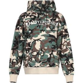 《期間限定セール開催中!》MASTERMIND WORLD メンズ スウェットシャツ ミリタリーグリーン XS コットン 100%