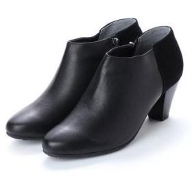 ソフィアコレクション Sophia collection スエードコンビショートブーツ (ブラック)