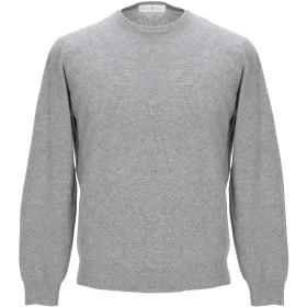 《セール開催中》DELLA CIANA メンズ プルオーバー グレー 58 ウール 80% / カシミヤ 20% / 羊類革