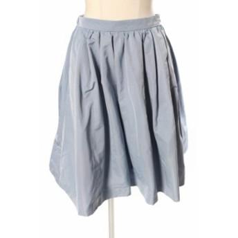 【中古】トッカ TOCCA 16AW STARLET スカート ひざ丈 フレア ギャザー 4 青 ブルー /yo0417 レディース
