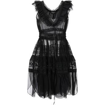 《セール開催中》DSQUARED2 レディース ミニワンピース&ドレス ブラック 38 コットン 100%