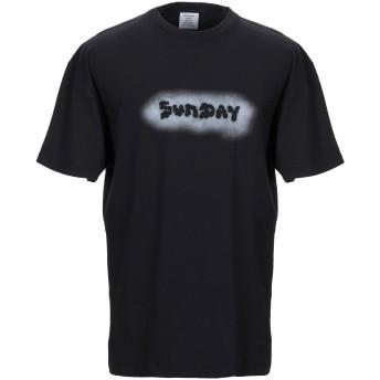 《期間限定セール開催中!》VETEMENTS メンズ T シャツ ブラック S コットン 100%
