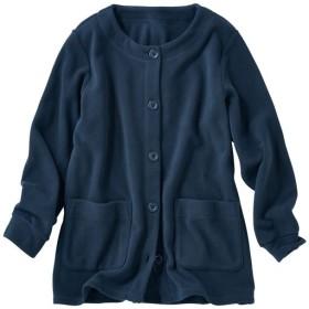 【レディース】 フリースジャケット ■カラー:ダークブルー ■サイズ:3L,LL,4L,M,L