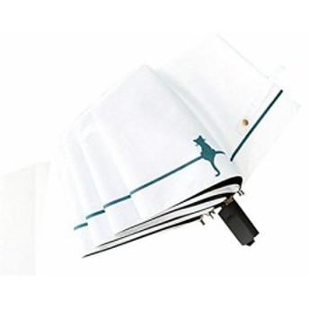 折りたたみ傘 軽量 レディース 日傘 uvカットねこ 猫柄 白 ホワイト シンプル 遮光 晴雨兼用 雨傘 丈夫 おしゃれ かわいい アニマル 8本